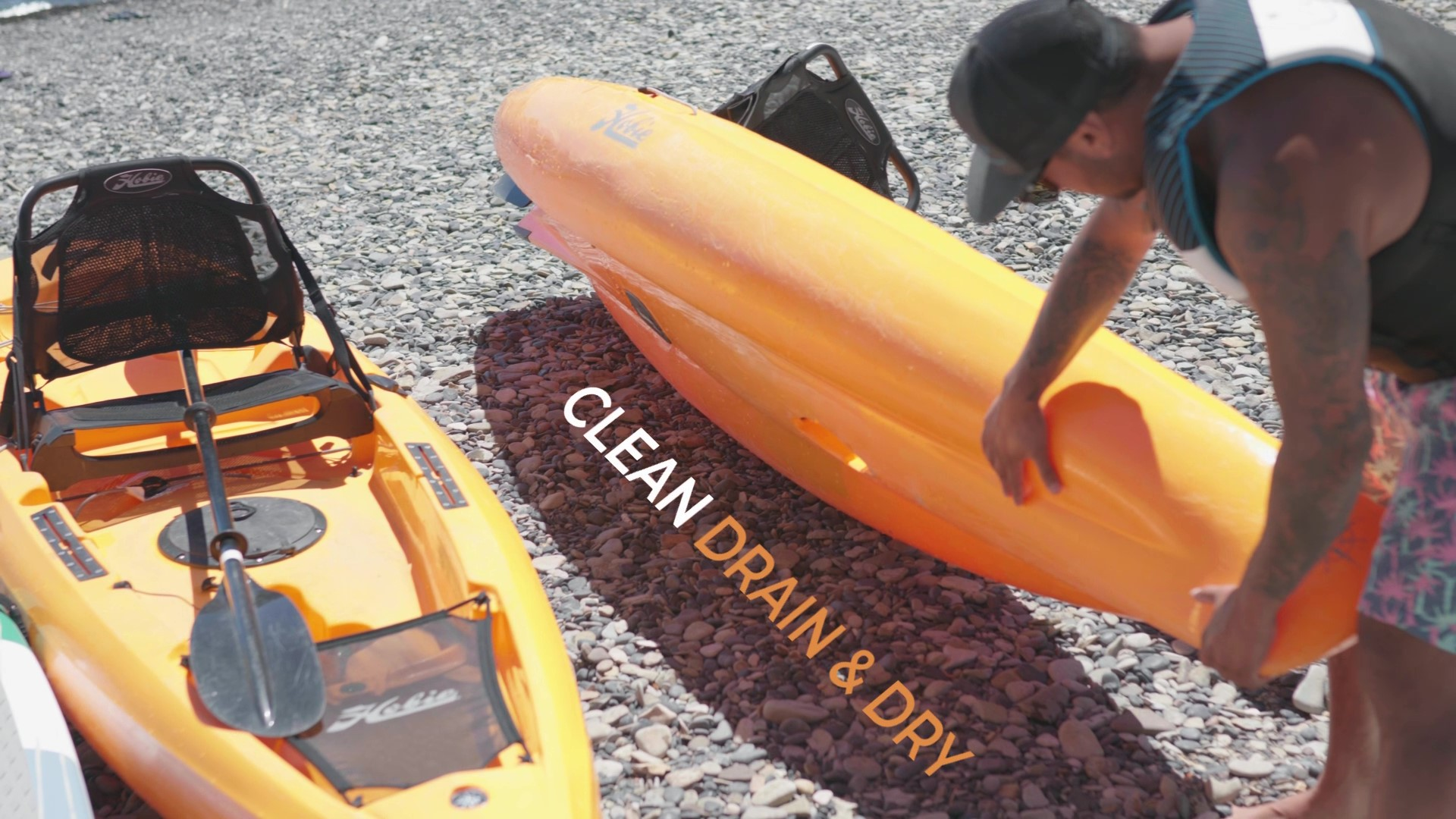Clean drain and dry your kayak or sup