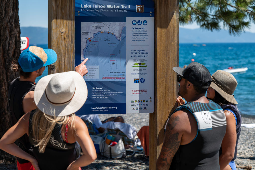 Tahoe Water Trail Sign